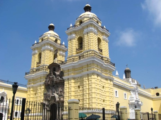 Gloom-fighting yellow at the Church of San Francisco, Lima, Peru